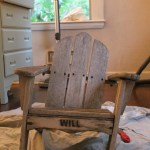 Makeover Monday: Baby Adirondack Chair and Pillow