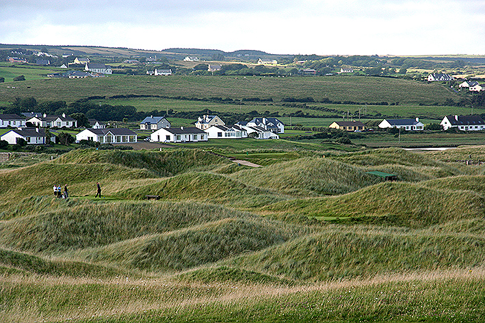 When Old Tom Morris laid out the Lahinch Golf Course, he placed it among the sand dunes. They are lower further from the sea.