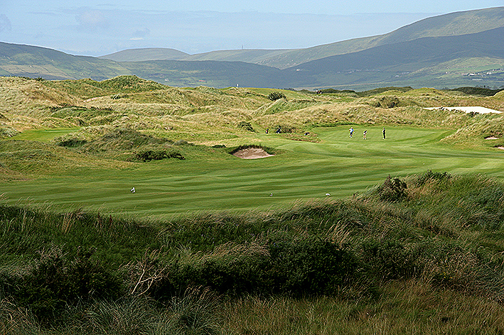 Playing among the small dunes at Waterville.