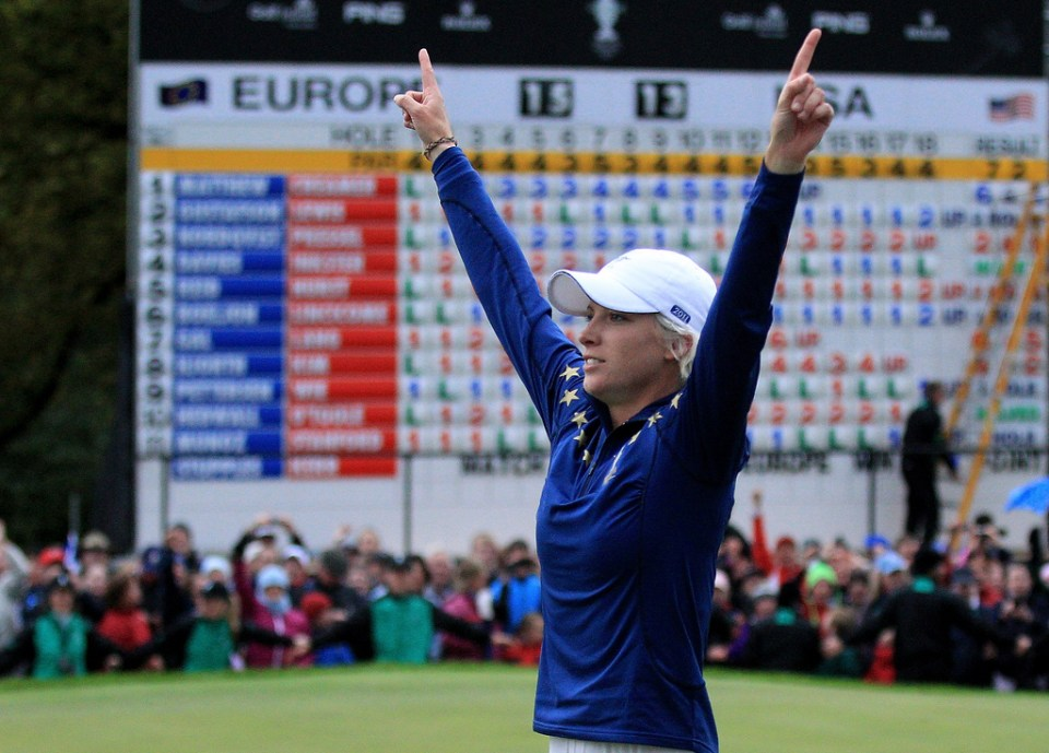 Killeen Castle was the venue for the successful European crusade for the Solheim Cup in 2011. Here, England's Melissa Ried celebrates the victory. (Photo: LET)