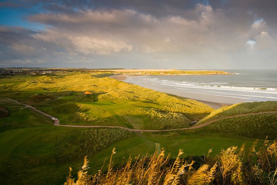 HIGH DUNES: Cruden Bay Golf Club just north of Aberdeen is one of the best true links courses in Britain. It is protected from the wind on some holes, and exposed to the wind on others. Here the 16th. Photo: David J. Whyte