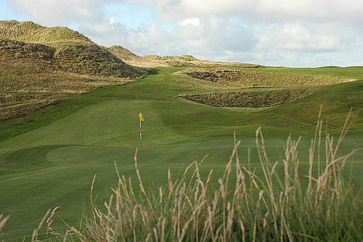 The course at Lahinch GC is played over and beteween the dunes.