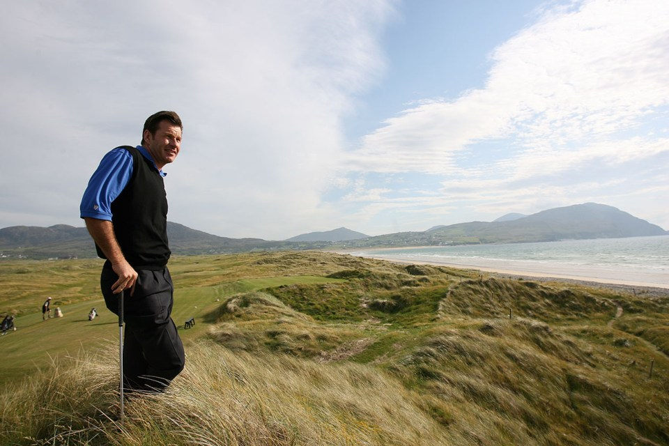 Faldo was astonished when he saw the old path, saying this was the world's most natural golf course.