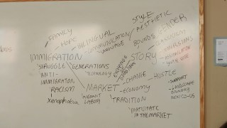 Brainstorm web on topics related to/impacted by immigration.