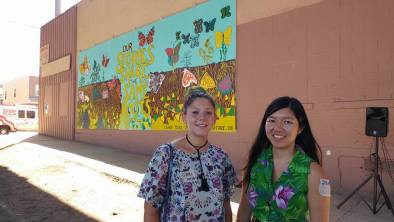 Artists Jenie Gao (right) and Gabriela Riveros (left).