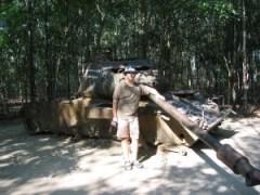 Tanque M-41 destruido.
