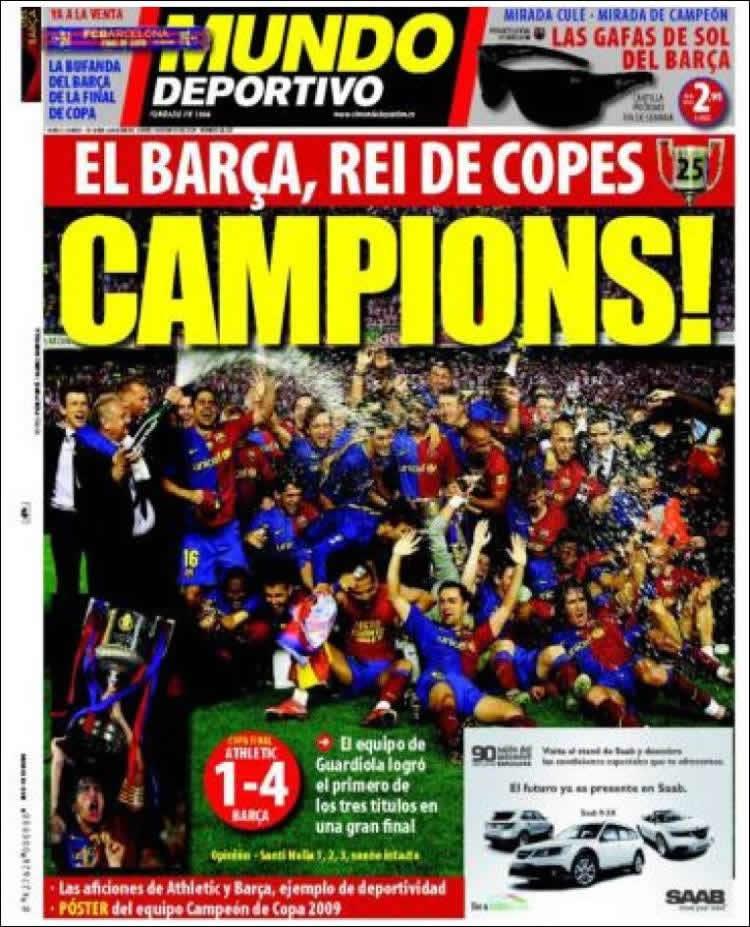 Portada Mundo Deportivo Campeones Copa Rey