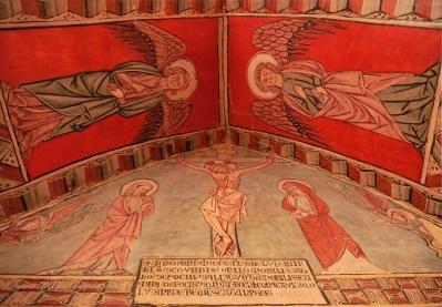 San Miguel de Foces, fresques du Gothique tardif (XIVe)