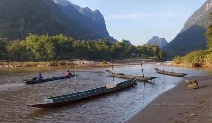 Rivière Nam Ou près de Muang Ngoi (Laos)