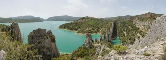 Roques de la Vila et Embalse de Canelles