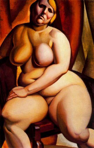 Desnudo sentado - Tamara de Lempicka