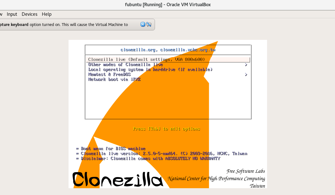 Clonezilla automated install from pendrive
