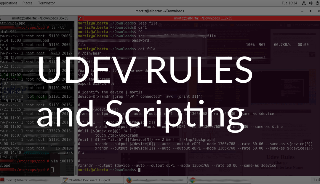 Running bash scripts using udev rules