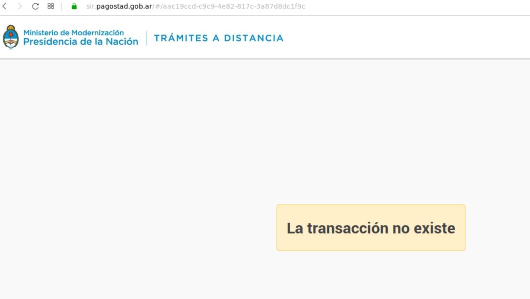 No se pueden hacer los pagos de dominios .AR