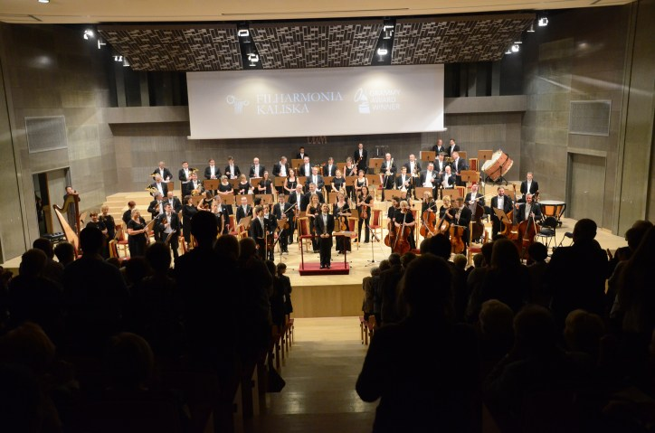 2015, Final stading ovation in Poland. Kalisz Philharmonic Orchestra, Poland