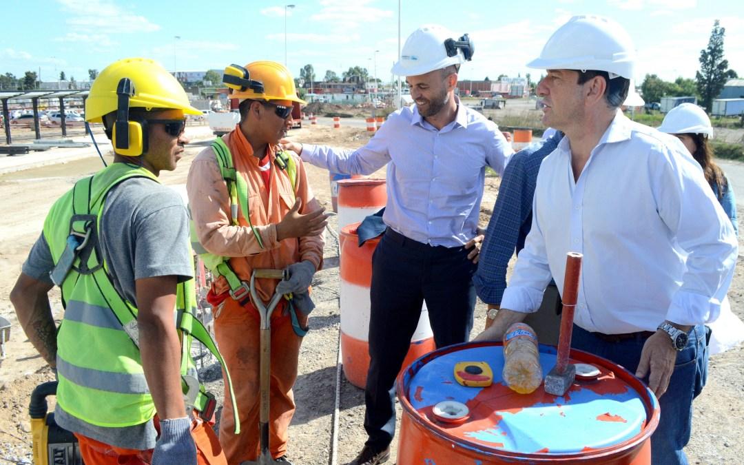 Miguel Saredi recorrió las obras del Metrobus La Matanza