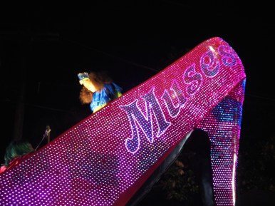 Krewe of Muses for Mardi Gras 2016 at Magazine Street. New Orleans , LA