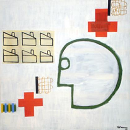 Cabeza Blanca. Óleo sobre lienzo. 120 x 120 cm. 2008 - copia