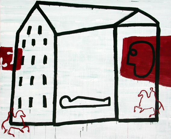 Casa Mundo II_Acrílico sobre lienzo_162x200 cm._2001