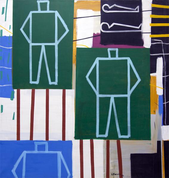 Del juego de los espejos_Óleo sobre lienzo_ 180x180 cm_2005