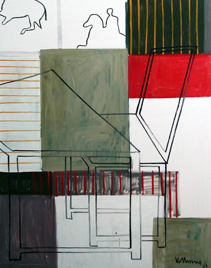 El sueño del Caballero I. 130 x 162 cm. Oleo sobre lienzo.20
