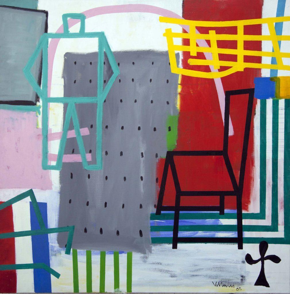 """Miguel Villarino """"Doble cero"""" (2005) acrílico / tela 120 x 120 cm."""