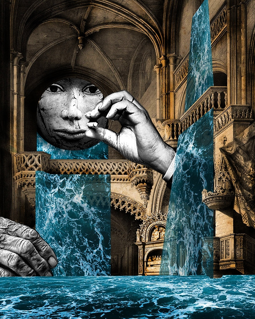 The flood. Digital Collage