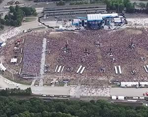 Backstage Konzert Ed Sheeran Luftbild