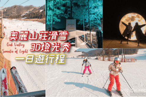 首爾滑雪》奧麗山莊OakValley滑雪體驗 3D 燈光秀一日遊 滑雪新手超好入門 行程介紹