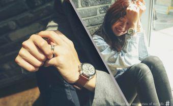 我們的情侶錶 fossil真皮三眼錶 質感棒且好看又好搭價格也很可愛