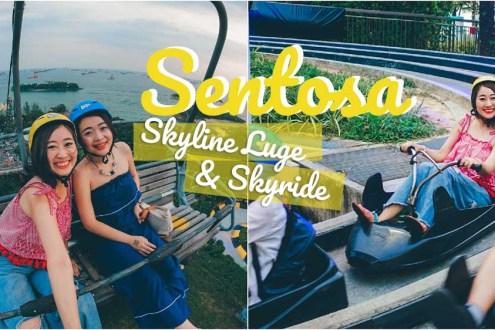 新加坡》聖淘沙斜坡滑車夜間電音燈光版更嗨更好玩! 還能從吊椅看新加坡夕陽美景