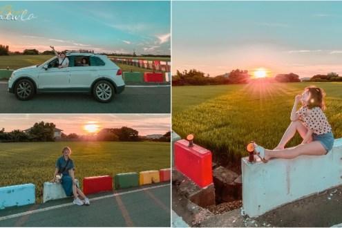 桃園》高鐵桃園站附近的IG網美彩虹稻田 轉個彎找到的可愛小天地