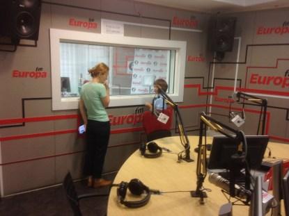 În studioul Europa FM