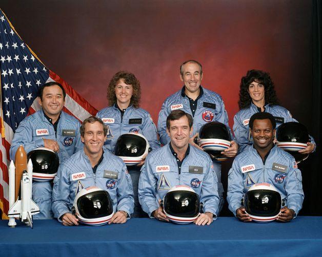 Echipajul de pe misiunea STS 51 L Challenger