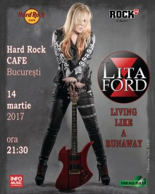 Concertul Litei Ford s-a mutat la Hard Rock Cafe