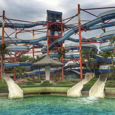 The infamous 7-storey waterslide