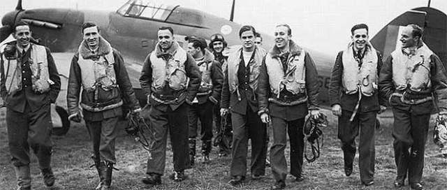 pilotos RAF batalla inglaterra
