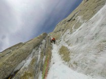 This is where the climbing gets nice. Richardon Simms route on Aguja Guillaumet