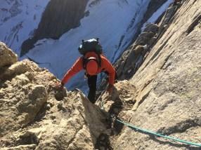 Climbing the Walker Spur