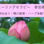 京都ヒーリングツアー!幸せな時間を一緒に!~神社めぐり・鴨川散策・ハーブ体験~