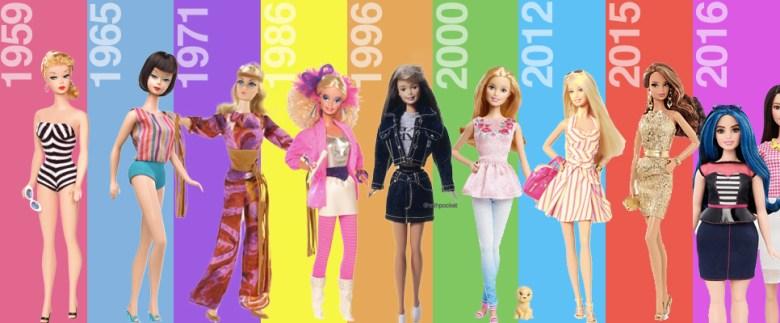 a-evolução-da-barbie