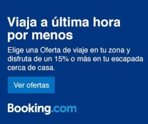 booking banner descuento