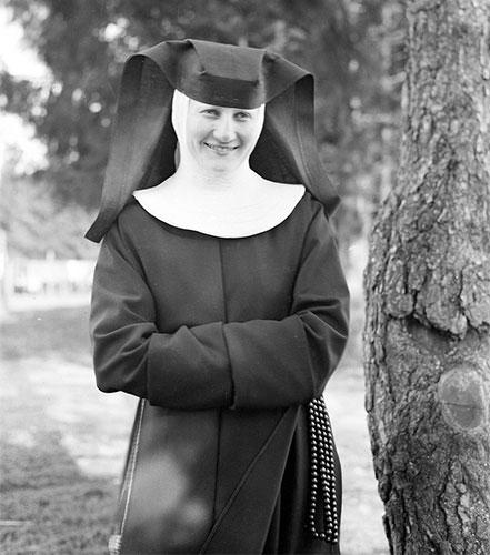Sister M.I. Hummel smiling