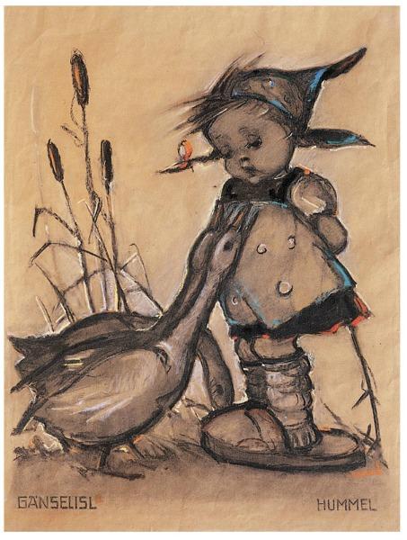 Sketch of Goose Girl