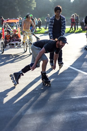 Roller skating - Golden Gate Park SF