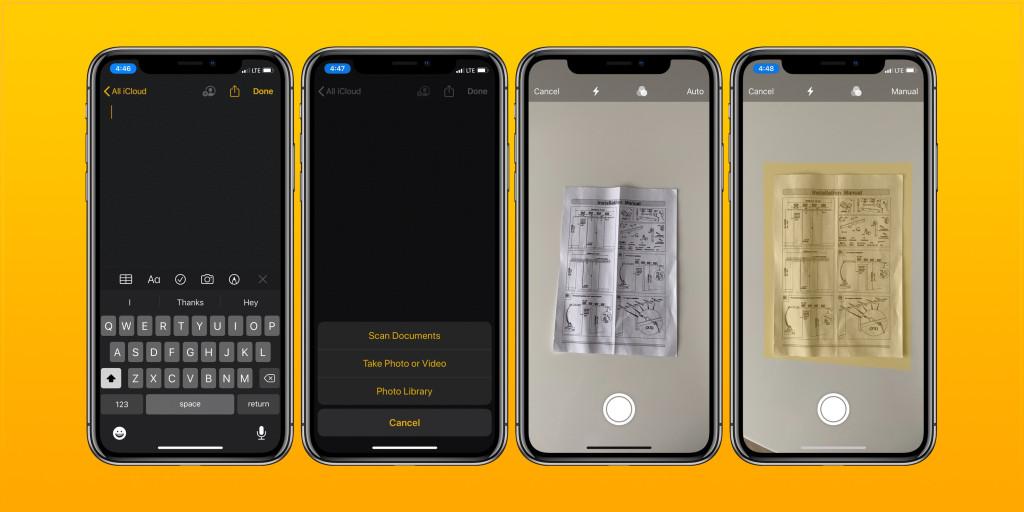 iOS: как сканировать документы с помощью приложения Notes