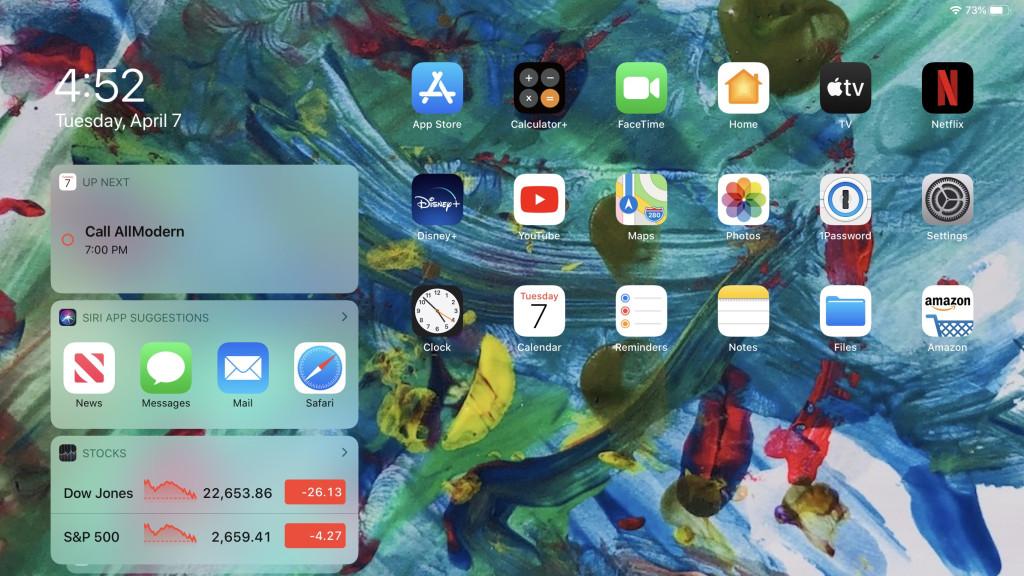 iPad: как сохранить виджеты на главном экране