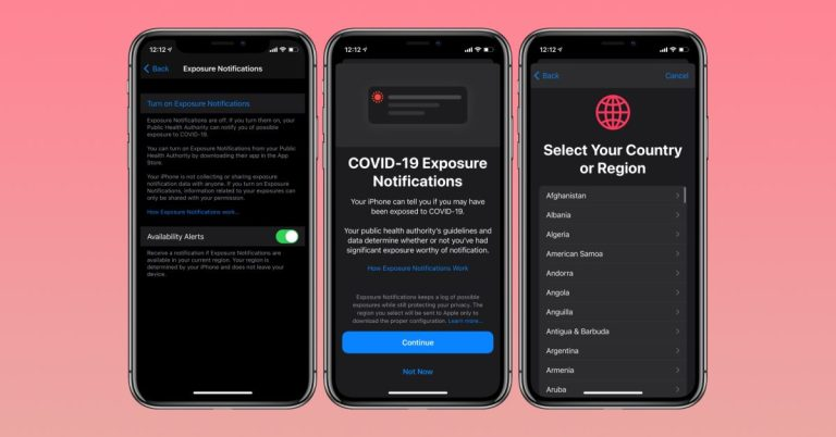 Как включить / выключить отслеживание контактов COVID-19 на iPhone