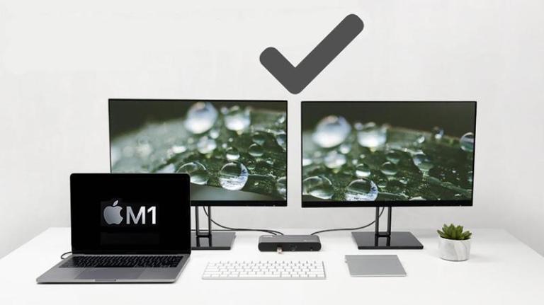 Как подключить два или более внешних дисплея к Mac Apple Silicon M1