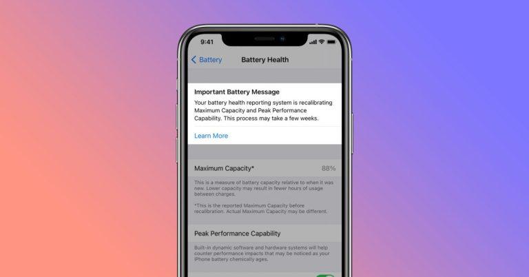 Как работает перекалибровка батареи iPhone в iOS 14.5